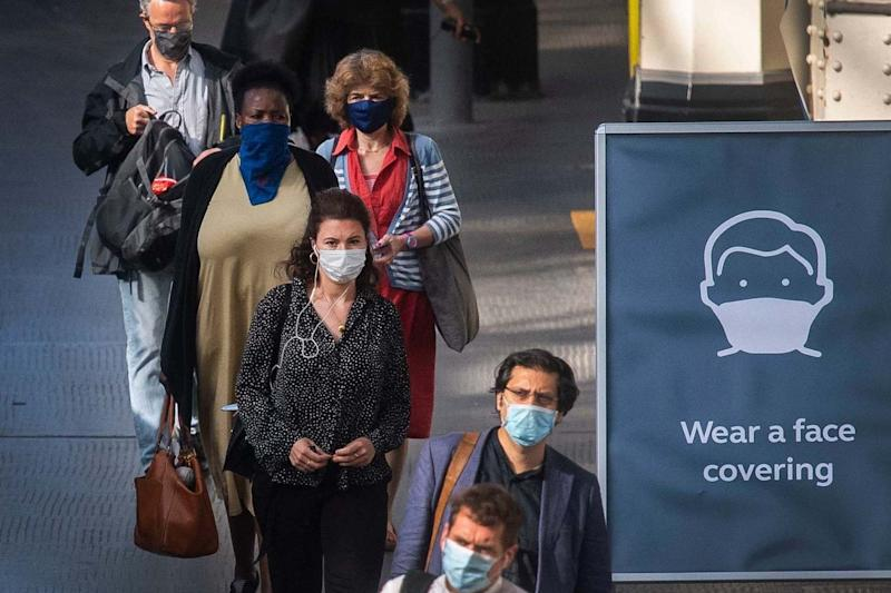 In the UK it has become mandatory to wear a face mask on public transport: PA
