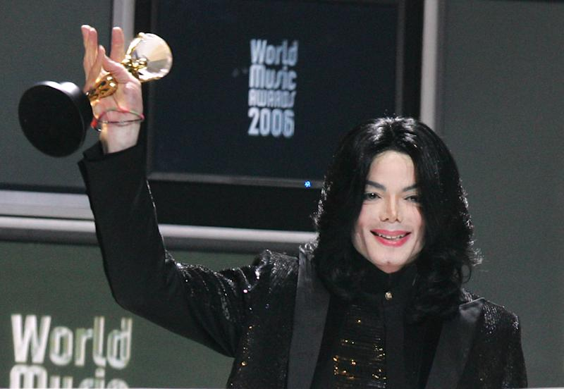 Michael Jackson, winner of the Diamond Award (Photo by Tony Barson/WireImage)