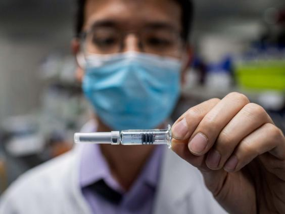 An experimental coronavirus vaccine tested at Sinovac Biotech facilities in Beijing (AFP via Getty Images)