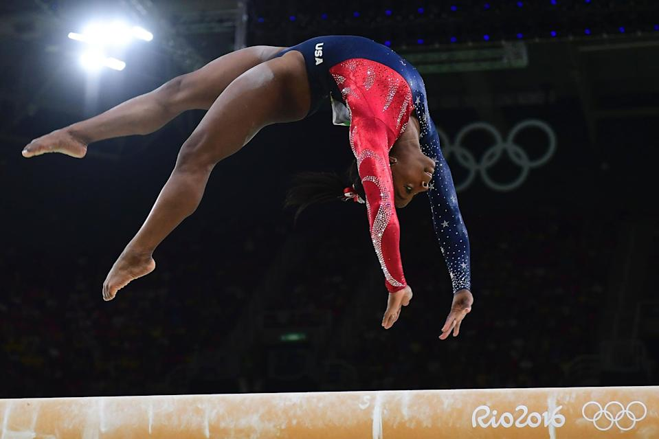 """<p>Ever since <a href=""""http://www.usatoday.com/story/sports/olympics/rio-2016/2016/08/15/simone-biles-laurie-hernandez-balance-beam-gymnastics/88762164/"""" class=""""link rapid-noclick-resp"""" rel=""""nofollow noopener"""" target=""""_blank"""" data-ylk=""""slk:she took home a bronze medal on the balance beam"""">she took home a bronze medal on the balance beam</a> at the Rio Olympics in 2016, Simone has struggled with her confidence on the beam. Even more than three years later, she confessed to <strong>USA Today Sports</strong> that <a href=""""http://www.usatoday.com/story/sports/2019/10/12/simone-biles-why-champ-has-love-hate-relationship-balance-beam/3946814002/"""" class=""""link rapid-noclick-resp"""" rel=""""nofollow noopener"""" target=""""_blank"""" data-ylk=""""slk:2016 affected her feelings about the beam"""">2016 affected her feelings about the beam</a> in a way she wasn't sure she could recover from - but she's definitely made progress. """"It took a while,"""" she said. """"I have this love-hate relationship with the beam. I've always told myself, 'If you hate beam, the beam will hate you.'""""</p>"""