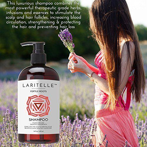 """<p><strong>Laritelle</strong></p><p>amazon.com</p><p><strong>$49.99</strong></p><p><a href=""""https://www.amazon.com/dp/B019039KNU?tag=syn-yahoo-20&ascsubtag=%5Bartid%7C2164.g.32690409%5Bsrc%7Cyahoo-us"""" rel=""""nofollow noopener"""" target=""""_blank"""" data-ylk=""""slk:Shop Now"""" class=""""link rapid-noclick-resp"""">Shop Now</a></p><p>This organic shampoo fights hair loss using antioxidant-rich Ayurvedic herbs like patchouli and cloves, which are thought to stimulate the scalp and the roots, rejuvenate hair follicles. </p>"""