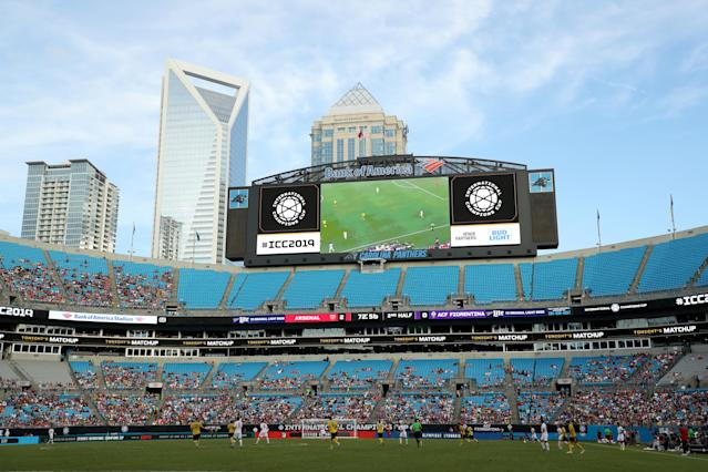 There were tons of empty seats for Arsenal vs. Fiorentina in Charlotte, which is becoming a familiar sight at various International Champions Cup matches. (Getty)