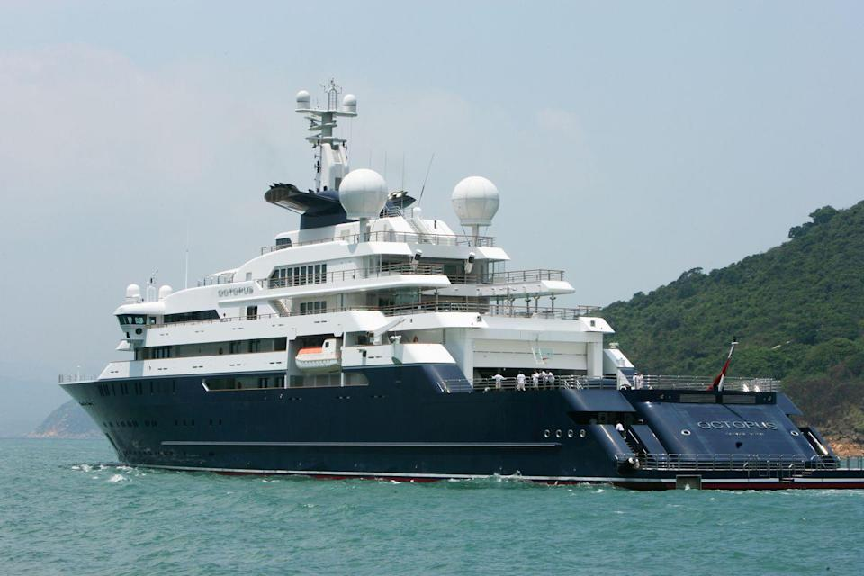 <p>This 416-foot megayacht was the passion project of Microsoft's cofounder Paul Allen and is currently owned by his wife, Jody Allen. The groundbreaking exploration yacht has the ability to travel to the world's mot remote and otherwise inaccessible locations. It was built by Lurssen in 2013 with exterior design by Espen Oenio and interiors by Seattle-based yacht designer Jonathan Quinn Barnett, housing 26 guests and 63 crew. A spa, library, multiple lounges, alfresco dining spaces, and a basketball court are just the beginning of Octopus's array of amenities.</p>