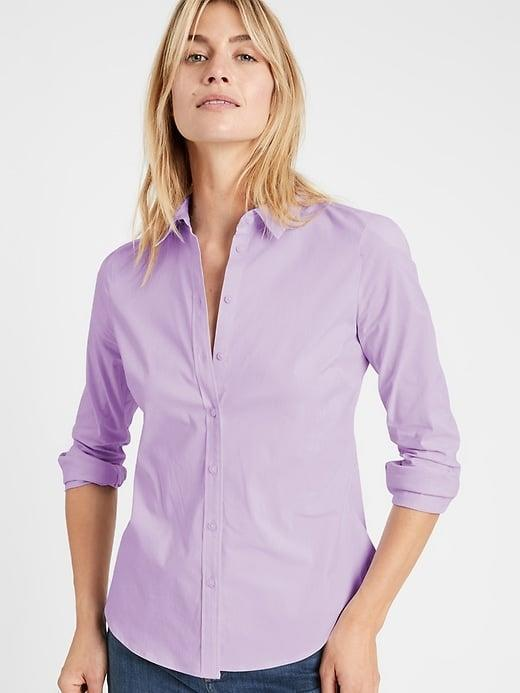 <p>Add a new color to your dress-shirt collection with a lilac <span>Banana Republic Riley Tailored-Fit Shirt</span> ($55, originally $80) for spring.</p>