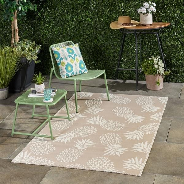 Christopher Knight Home Aldea Modern Scatter Outdoor Area Rug