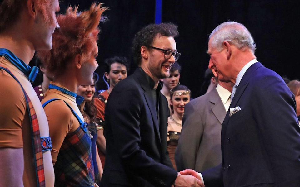 File photo dated 13/2/2019 of the Prince of Wales shaking hands with Liam Scarlett as he attends the world premiere of the ballet, The Cunning Little Vixen, in honour of his 70th birthday at the Royal Opera House, London. The internationally-renowned choreographer has died at the age of 35. He left The Royal Ballet last year amid allegations of inappropriate behaviour. Issue date: Saturday April 17, 2021. PA Photo. See PA story DEATH Scarlett. Photo credit should read: Gareth Fuller/PA Wire - Gareth Fuller/PA Wire