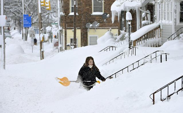 Cleveland's brutal winter is forecast to continue through Saturday's planned Browns parade. (AP)