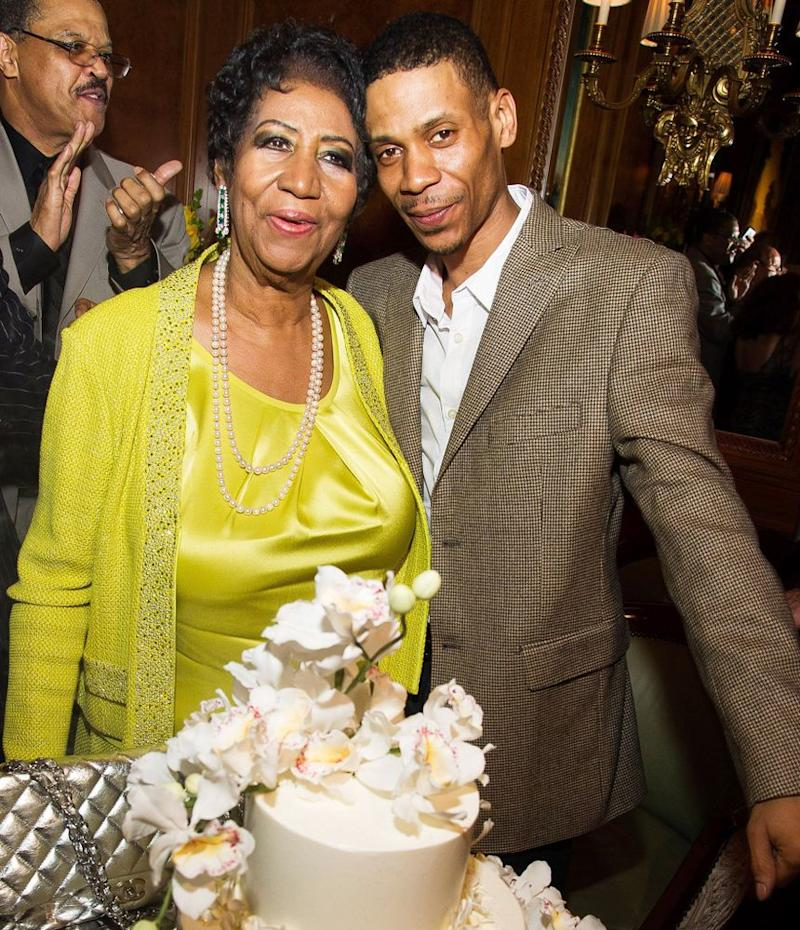 Aretha Franklin and sonKecalf Cunningham   Charles Sykes/Invision/AP/REX/Shutterstock