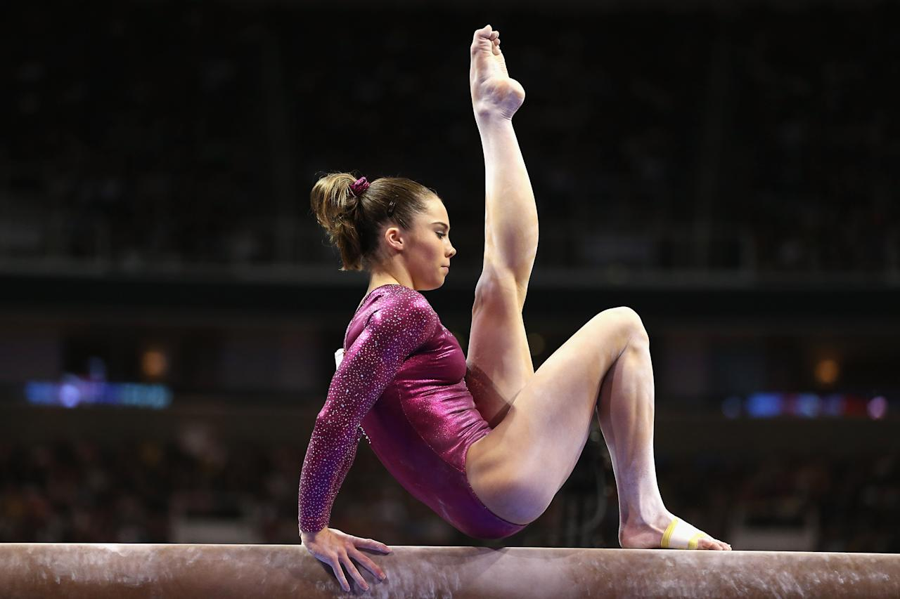 SAN JOSE, CA - JULY 01:  McKayla Maroney competes on the balance beam during day 4 of the 2012 U.S. Olympic Gymnastics Team Trials at HP Pavilion on July 1, 2012 in San Jose, California.  (Photo by Ezra Shaw/Getty Images)