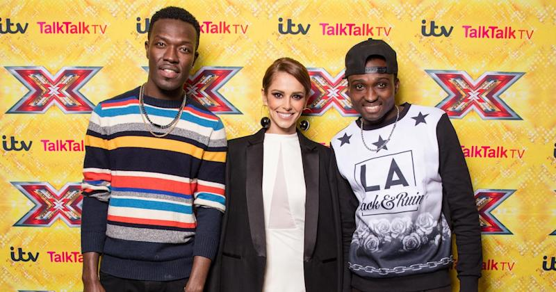 Mash it up! X Factor judge Cheryl mentored Reggie N Bollie during their time on the ITV show (Copyright: Syco/Thames/Corbis/Dymond)