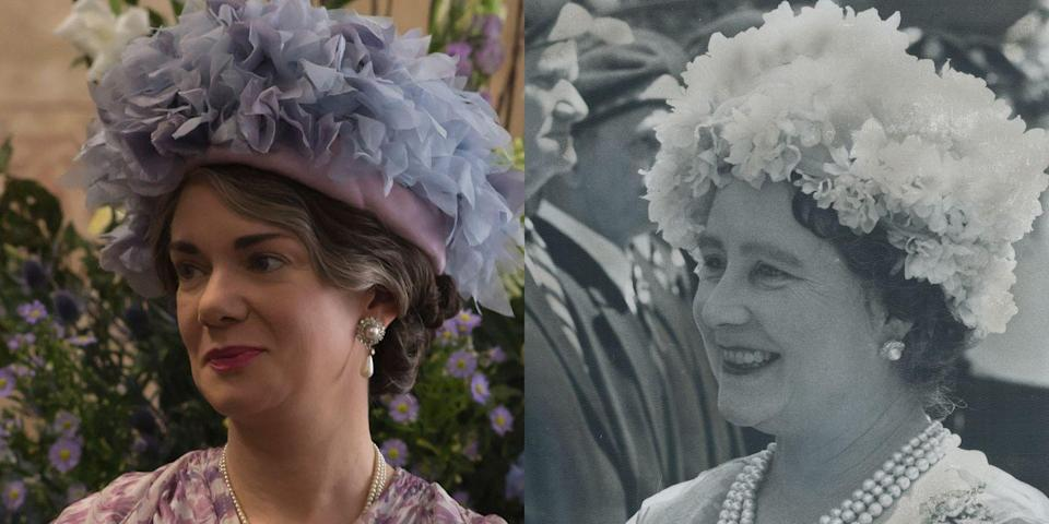 <p>Played by English actress Victoria Hamilton, whose résumé includes episodes of <em>Pride & Prejudice </em>(the BBC one with Colin Firth) and <em>Call the Midwife</em>, the Queen Mother was a constant rock for Elizabeth at Buckingham Palace and beyond. In real life, the Queen Mother, who was the longest-lived member of the British royal family (and always one of the more popular royals), lived until the age of 101. She died in her sleep on March 30, 2002, just weeks after Princess Margaret passed away.</p>