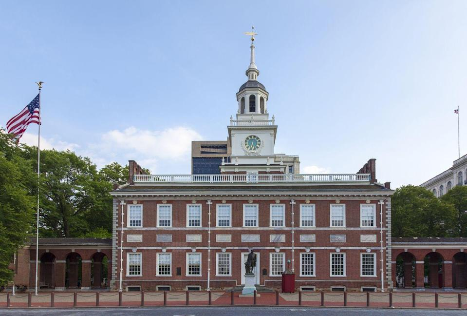 <p>The City of Brotherly Love is home to all sorts of historic landmarks, and Independence Hall is one of the most prominent. This colonial structure was the site where the Declaration of Independence was signed in 1776 and the United States Constitution was created and signed in 1787. It also formerly housed all three branches of Pennsylvania's state government. </p>