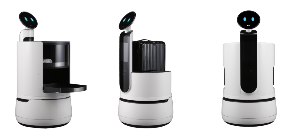 LG's new service robots are designed for restaurants, hotels, and grocery stores.