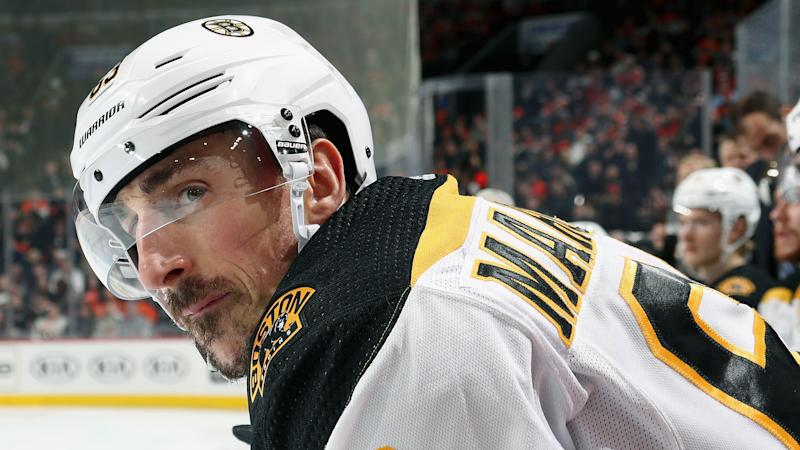 Marchand took to Twitter after his hilarious misstep. (Photo by Len Redkoles/NHLI via Getty Images)