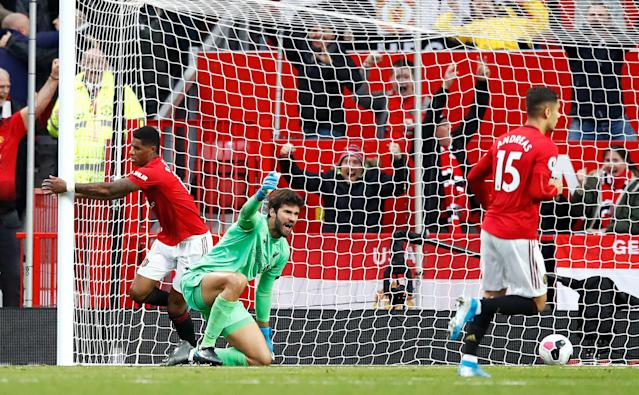 Rashford gave Manchester United the lead from close range. (Photo by Martin Rickett/PA Images via Getty Images)