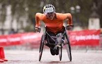<p>Dutch athlete Nikita Den Boer captured the London Marathon women's pushrim title</p>