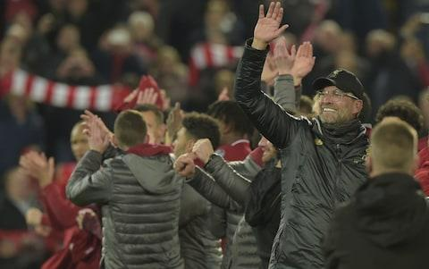 Head coach Juergen Klopp of FC Liverpool gestures after the UEFA Champions League Semi Final second leg match between Liverpool and Barcelona at Anfield on May 7, 2019 in Liverpool, England - Credit: Getty Images