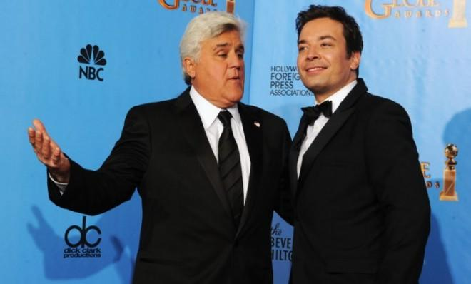 At the Golden Globes in January, Leno and Fallon joked about a possible changing of the guard.