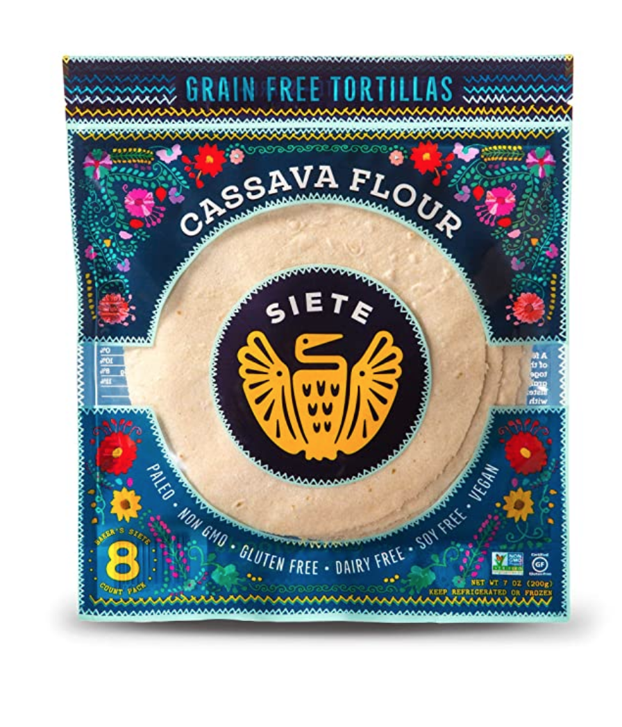 """<p><a class=""""link rapid-noclick-resp"""" href=""""https://www.amazon.com/Siete-Cassava-Coconut-Tortillas-Approved/dp/B01DETJ4LY/?tag=syn-yahoo-20&ascsubtag=%5Bartid%7C10049.g.36302562%5Bsrc%7Cyahoo-us"""" rel=""""nofollow noopener"""" target=""""_blank"""" data-ylk=""""slk:BUY NOW"""">BUY NOW</a></p><p>These gluten-free options are always available at Whole Foods.</p>"""