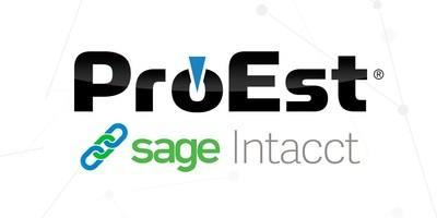 ProEst now integrates with Sage Intacct Construction.
