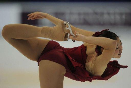 Mirai Nagasu of the US performs in the ladies short program during the ISU Grand Prix of Figure Skating 2011 in Shanghai on November 4. Nagasu of the United States described her second-placed finish as breaking her China curse. In Beijing Grand Prix competition in 2010 she fell back to fourth after the first day