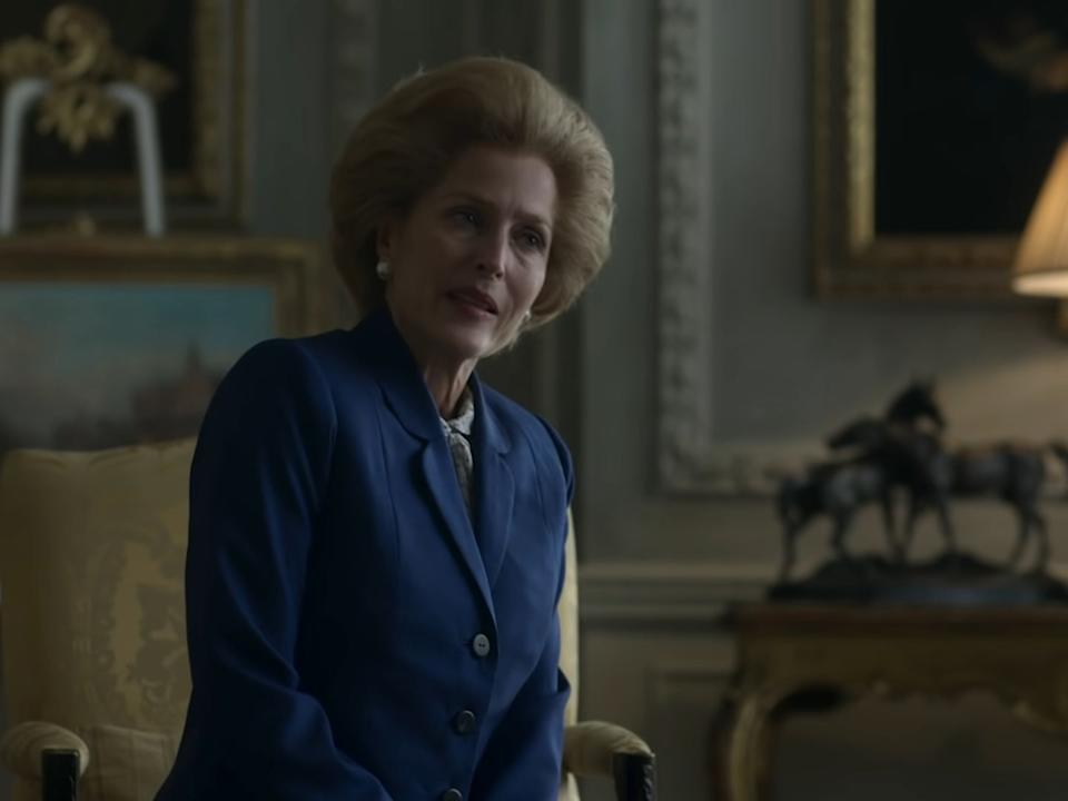 <p>Gillian Anderson as Margaret Thatcher in season four of 'The Crown'</p>Netflix