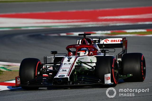 "3º Kimi Raikkonen, Alfa Romeo Racing C39: 1:17.091 (con neumáticos C5) <span class=""copyright"">Mark Sutton / Motorsport Images</span>"