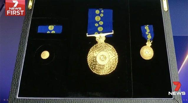 Thieves escaped with Tiffany's Order of Australia Medal. Source: 7 News