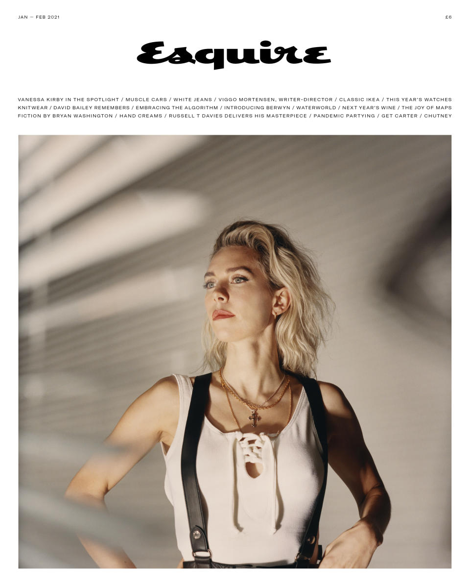 Vanessa Kirby on the Esquire UK cover (Esquire UK / Tom Craig)