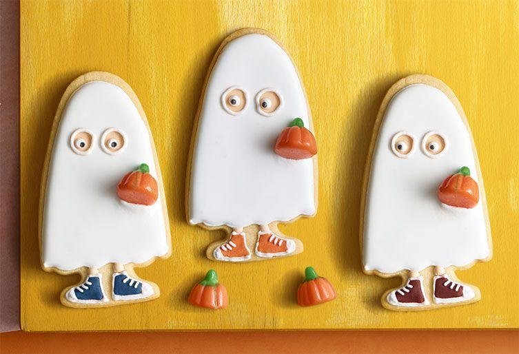 "<p>You can customize your sugar cookies with different colors and shoe designs.</p><p><em><a href=""https://www.womansday.com/food-recipes/food-drinks/a23301516/trick-or-treater-sugar-cookies/"" target=""_blank"">Get the recipe for Trick-or-Treater Sugar Cookies.</a></em></p>"