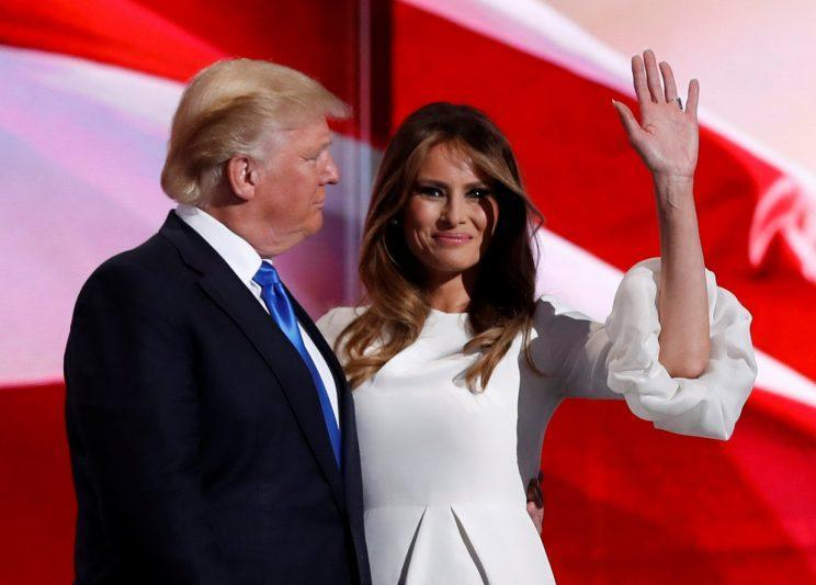 Melania Trump with her husband, Donald, at the Republican National Convention. (Photo: Mark Kauzlarich/Reuters)