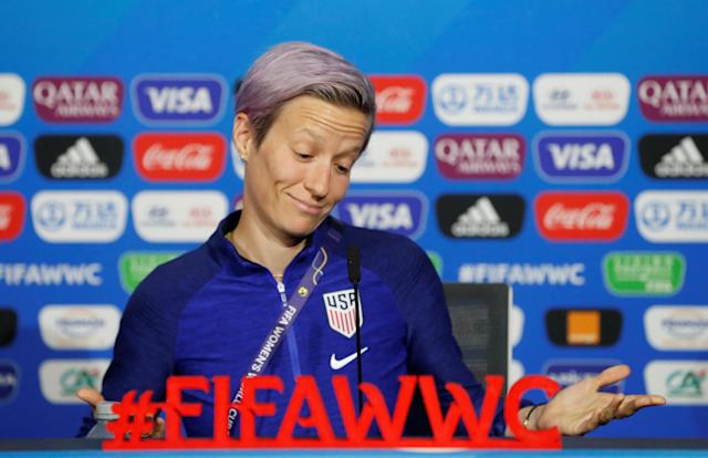 Megan Rapinoe doesn't believe FIFA is investing enough in the women's game, and it's hard to argue otherwise. (Reuters)