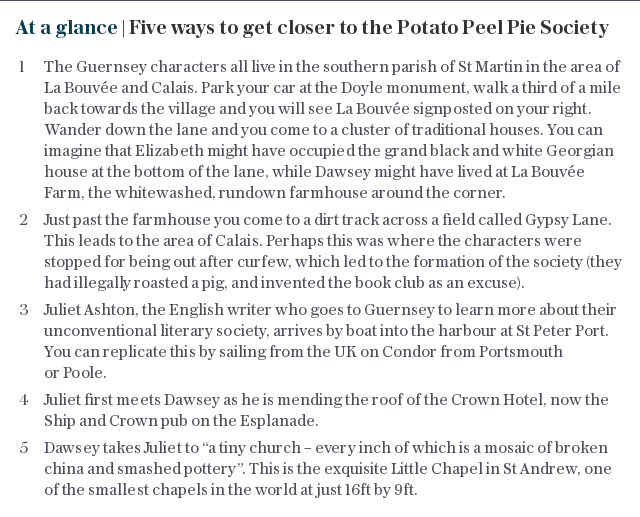 At a glance | Five ways to get closer to the Potato Peel Pie Society