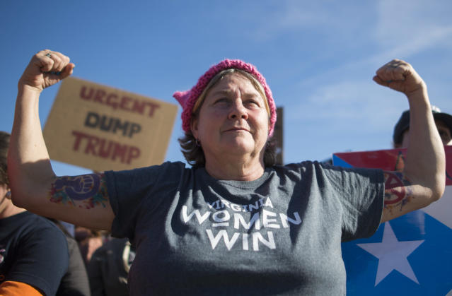 Lisa Lucas Gardner at the Women's March on Washington 2018: (Photo: Andrew Caballero-Reynolds/AFP/Getty Images)