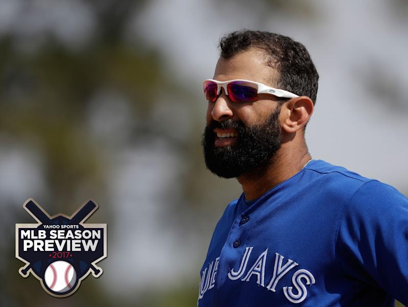 Jose Bautista, back with the Blue Jays, will be key in them contending again. (AP)