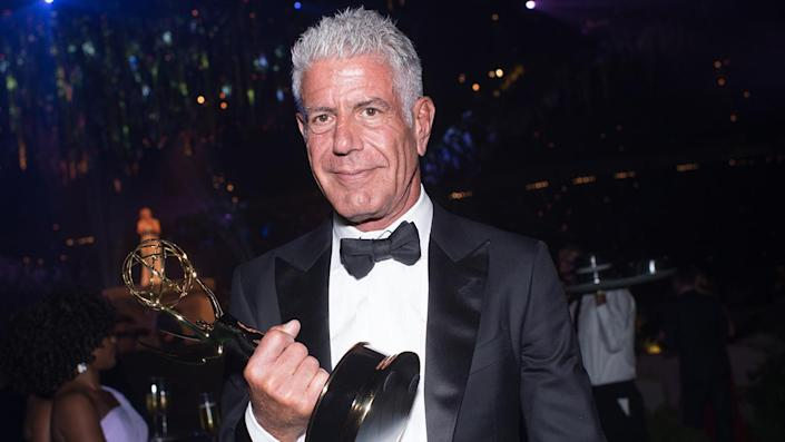 """Chef/TV personality Anthony Bourdain attends the Creative Arts Emmy Awards Governors Ball at Microsoft Theater on September 10, 2016 in Los Angeles, California. <span class=""""copyright"""">Photo by Emma McIntyre/Getty Images</span>"""
