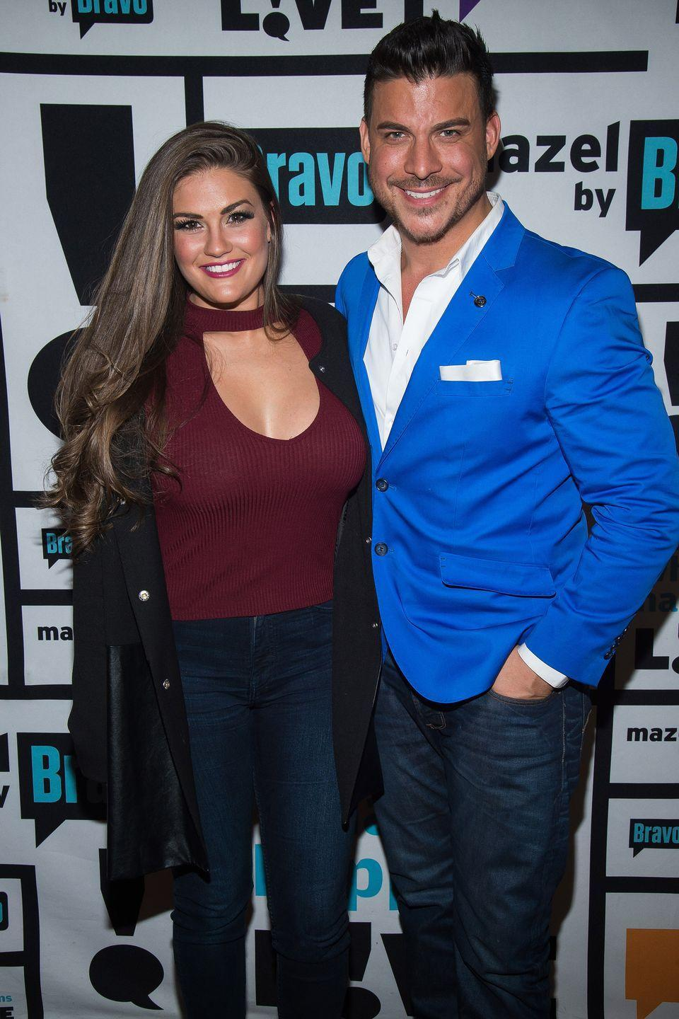"""<p>After Jax did in fact cheat during season 6 of <em>Vanderpump Rules</em> with SURver Faith Stowers, Brittany couldn't let her heart give him up. She's since given him a second chance and the pair are currently engaged. """"I see him every single day making efforts and he's completely changed the way he treats me, the way he talks to me, the way he listens to me. Every single thing about our relationship is better,"""" <a href=""""https://www.usmagazine.com/celebrity-news/pictures/celebrity-couples-who-stayed-together-after-cheating-scandals/brittany-cartwright-and-jax-taylor/"""" rel=""""nofollow noopener"""" target=""""_blank"""" data-ylk=""""slk:she told Us Weekly"""" class=""""link rapid-noclick-resp"""">she told <em>Us Weekly</em></a> back in 2018.</p>"""