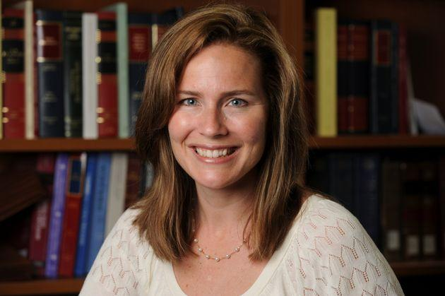 US Court of Appeals for the 7th Circuit Judge Amy Coney Barrett, a law professor at Notre Dame University, poses in an undated photograph obtained from Notre Dame University Sept.19, 2020.