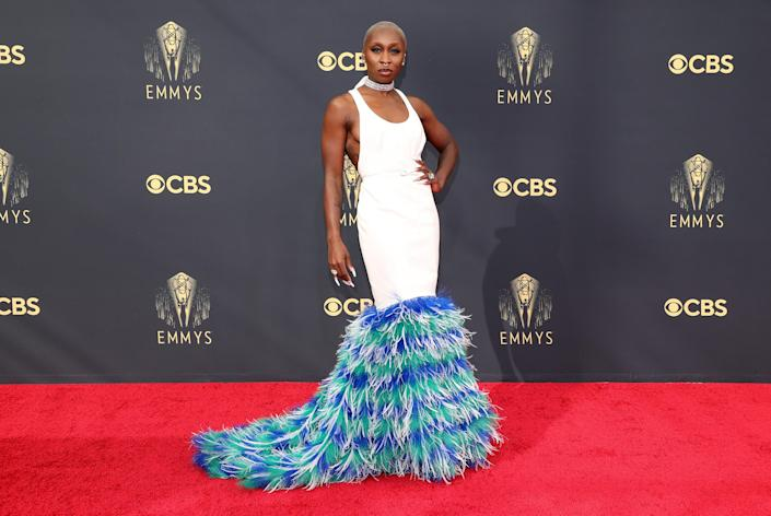 Cynthis Erivo Emmys red carpet 2021 (Rich Fury / Getty Images)