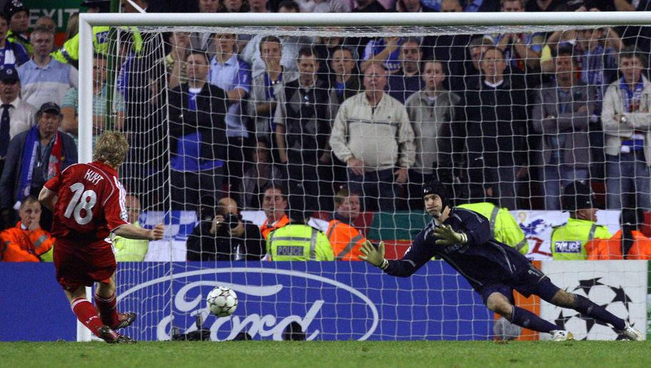 <p>Kuyt's first season at Anfield almost ended with the biggest prize of all.</p> <br /><p>After scoring 12 in the Premier League, the Dutchman was a pivotal part of the team that made its way to the Champions League final for the second time in three years.</p> <br /><p>After a nervy semi-final against modern adversaries Chelsea, Kuyt struck the decisive penalty of the shootout to send Liverpool to Athens and another showdown with AC Milan.</p>