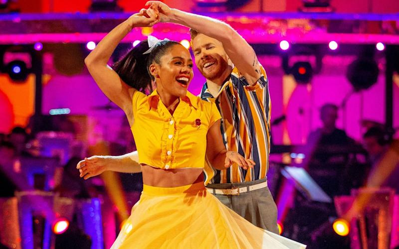 Alex Scott and Neil Jones on Strictly Come Dancing