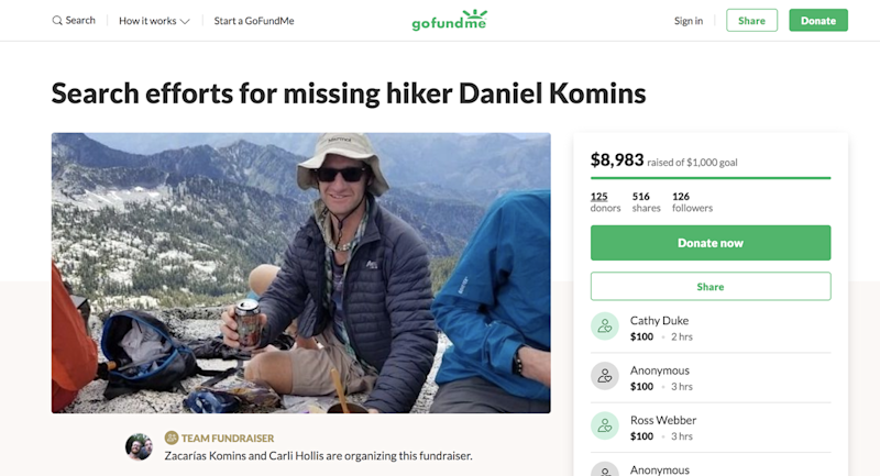 Experienced hiker found dead in Trinity County following five-day search