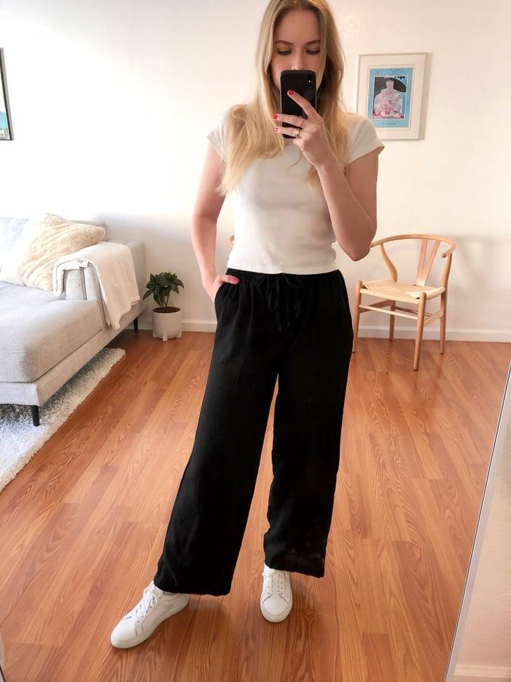"""<p><strong>The item:</strong> <span>Old Navy Mid-Rise Wide-Leg Linen-Blend Pull-On Pants</span> ($35-$39, originally $40)</p> <p><strong>What our editor said: </strong>""""Within seconds of trying them on, I knew I needed them. The fit was perfect and flattering, but for me, the real selling point is the material. They're lightweight and will keep me cool, but thick enough to offer some stability; they don't feel too thin or see-through."""" - Krista Jones, editor, Shop </p> <p>If you want to read more, here is the <a href=""""http://www.popsugar.com/fashion/most-comfortable-travel-pants-from-old-navy-47254489"""" class=""""link rapid-noclick-resp"""" rel=""""nofollow noopener"""" target=""""_blank"""" data-ylk=""""slk:complete review"""">complete review</a>.</p>"""