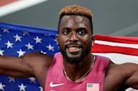"""<p>Biography: 22 years old</p> <p>Event: Men's 200m race</p> <p>Quote: """"I definitely think I can run way faster than that. But that's going to come with technique and experience. I'm pretty new to this game, so there's a lot of things that I've got to work on.""""</p>"""