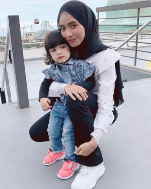 Ummi is already a mum to two year-old Ayra