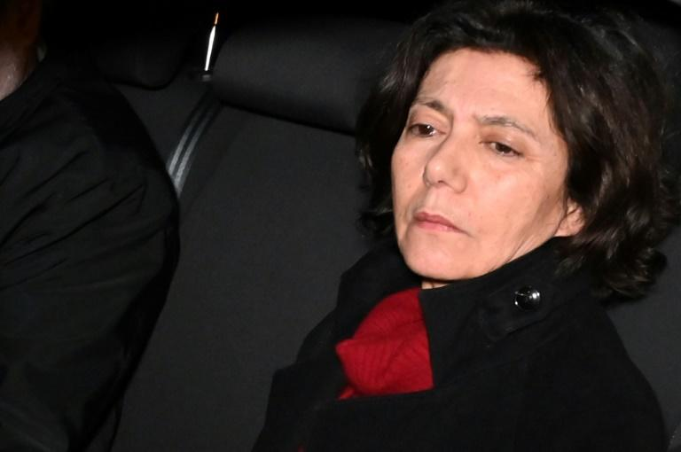 Turkish sociologist Ayse Bugra, Osman Kavala's wife, reacts after Istanbul prosecutors issued a new arrest warrant for him (AFP Photo/Ozan KOSE)