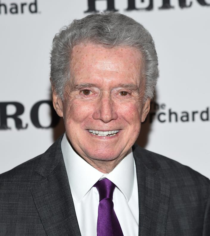 """Longtime TV host Regis Philbin has died at age 88. The media personality is best known for """"Live! With Regis and Kathie Lee,"""" which later became """"Live! with Regis and Kelly."""" Take a look at his life and career in pictures."""