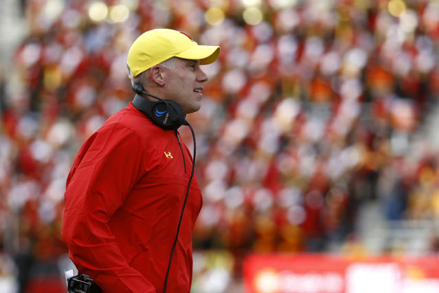 "A Washington Post report suggests that D.J. Durkin's Maryland football staffed failed to act quickly enough to save <a class=""link rapid-noclick-resp"" href=""/college-football/players/275388/"" data-ylk=""slk:Jordan McNair"">Jordan McNair</a>. (AP)"