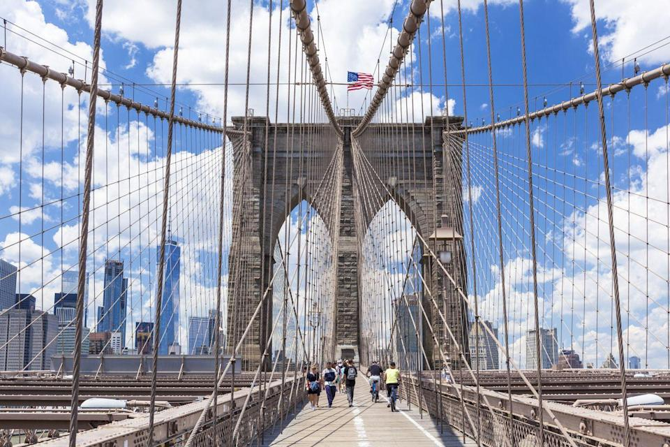 <p>The 5,989-foot-long Brooklyn Bridge, which opened in 1883, offers a quintessential New York experience for walkers and bikers. It also features some of the best views of the city's skyline.</p>
