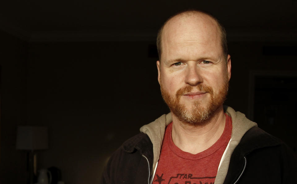 """FILE - In this April 12, 2012 photo, writer and director Joss Whedon, from the upcoming film """"The Avengers,"""" poses for a portrait in Beverly Hills, Calif. When George Lucas announced last week he was selling Lucasfilm to Disney for $4.05 billion, he also revealed that the long-rumored Episodes VI, VII and IX were in the works. Instantly, fans began tossing around names of directors who'd be a good fit for this revered material. (AP Photo/Matt Sayles, File)"""